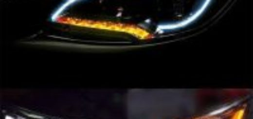 white-amber-flexible-tube-style-switchback-headlight-strip-drl-daytime-decorative-light